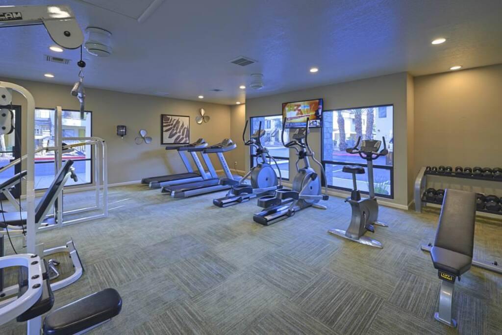 Fitness facility close to unit.