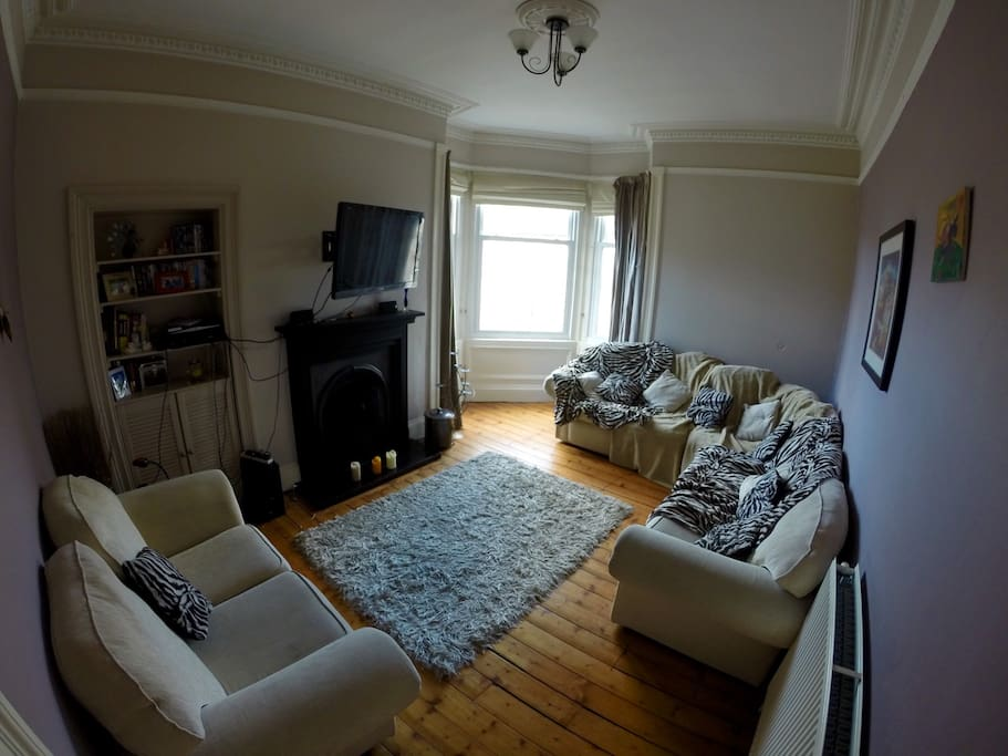 Spacious living room to relax in after a long day of sight seeing
