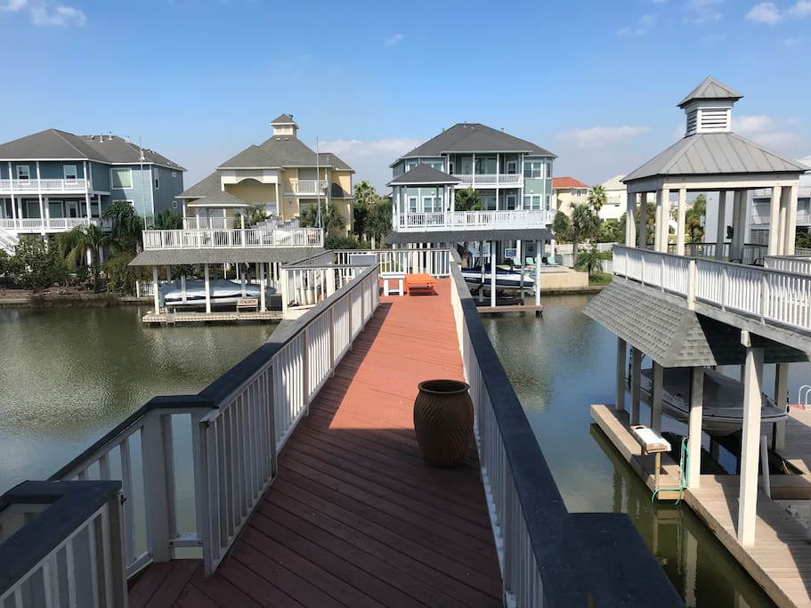 Enjoy the beautiful canal views off the pier