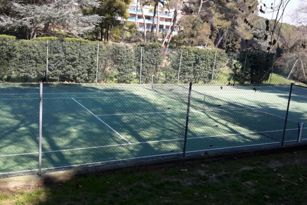 Le cours de tennis