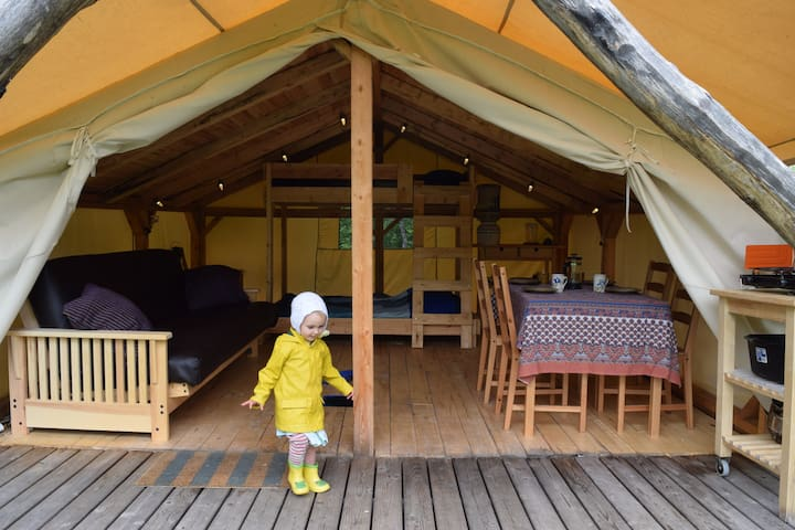 Cabin Tent with Lake Access at Wild Woods Hideaway