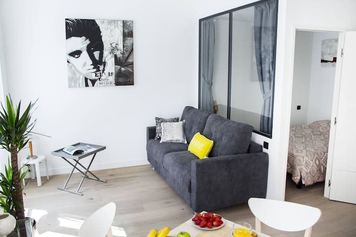 Top design - Near Place Massena - Balcony - A/C - Niza - Departamento