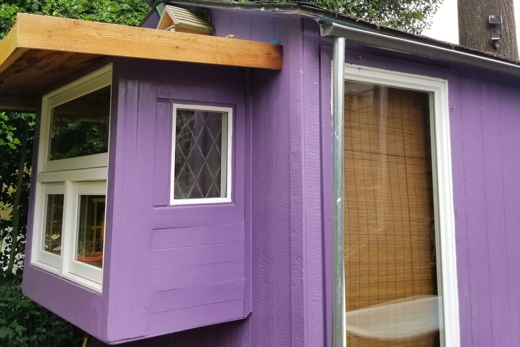 Purple cabin