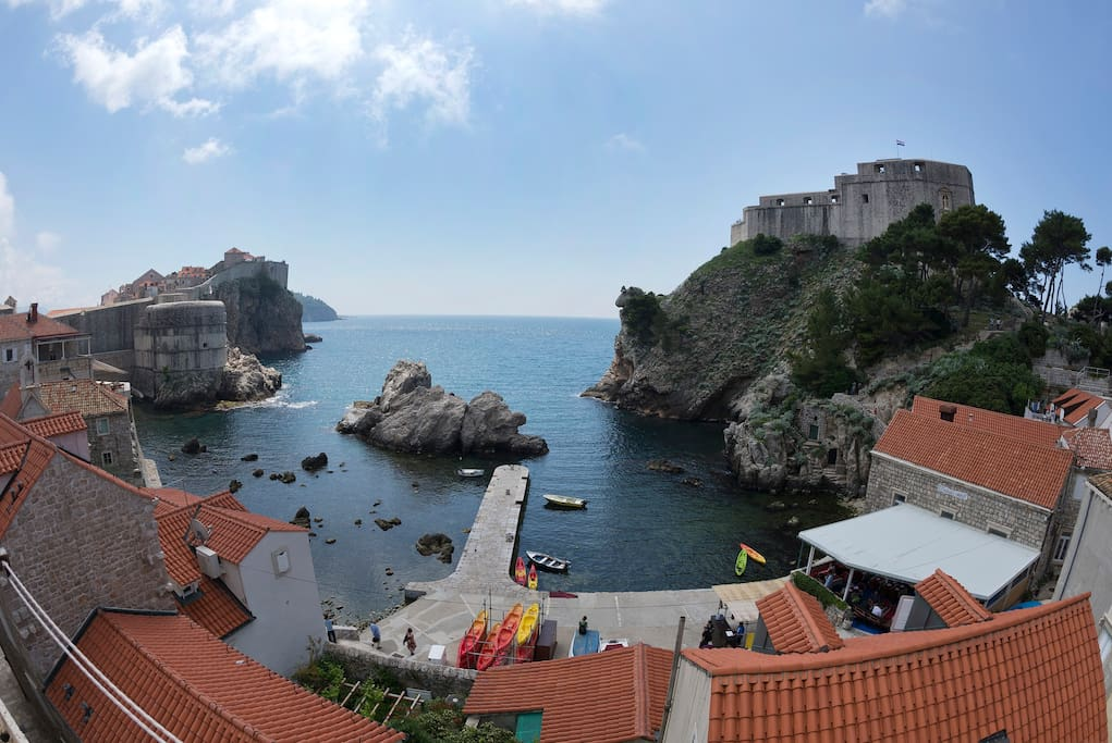Beautiful view of the Adriatic Sea and Fort Lovrijenac