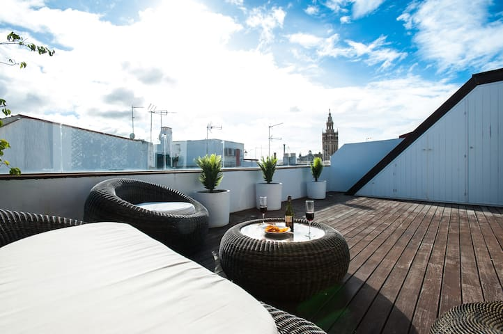 INCREDIBLE TERRACE! Penthouse in the Centre