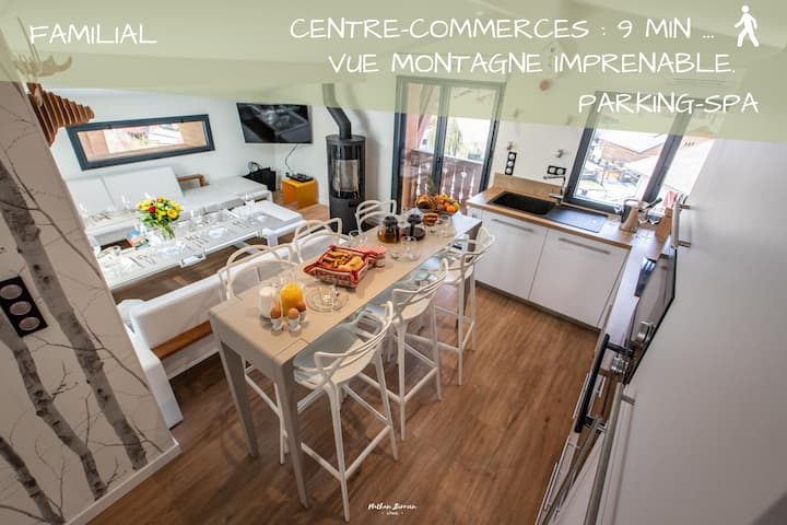 Chalet/Centre village: Cocoon 3 ch /vue imprenable
