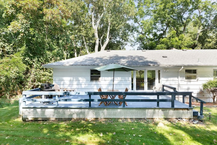 Dog-friendly house w/ a furnished deck & sunroom - near Trout Pond