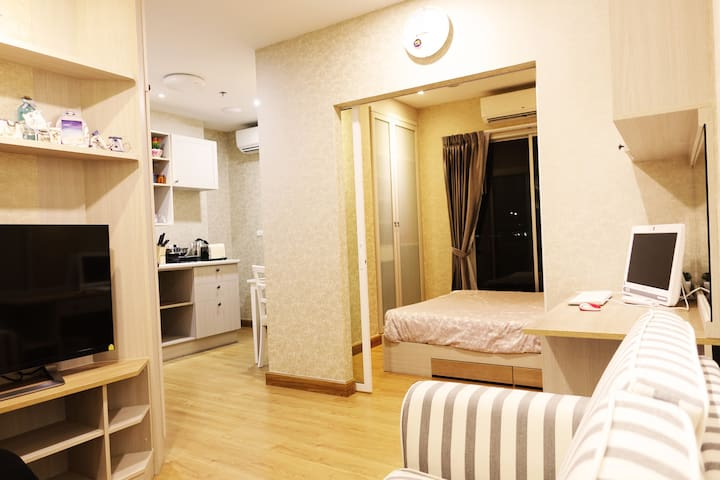 §Luxury Room private wifi and PC § - Bangkok - Osakehuoneisto