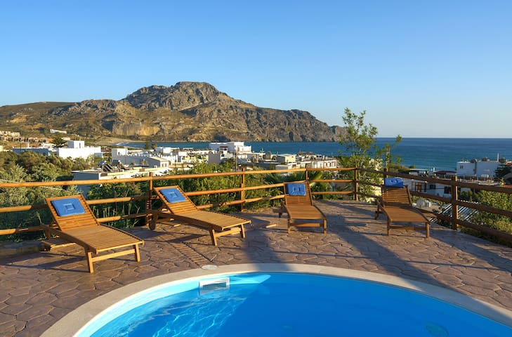 200m from Beach, Pool villa Ellis at south Crete - Plakias - Villa