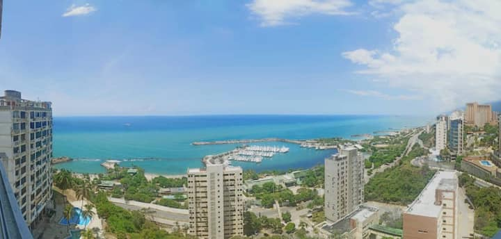 cómodo apartamento vista al mar
