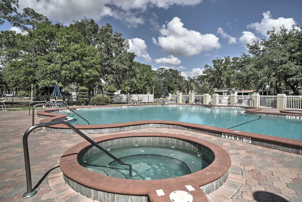 Lounge poolside when you stay at this 1-bedroom, 1-bathroom vacation rental home in Kissimmee!