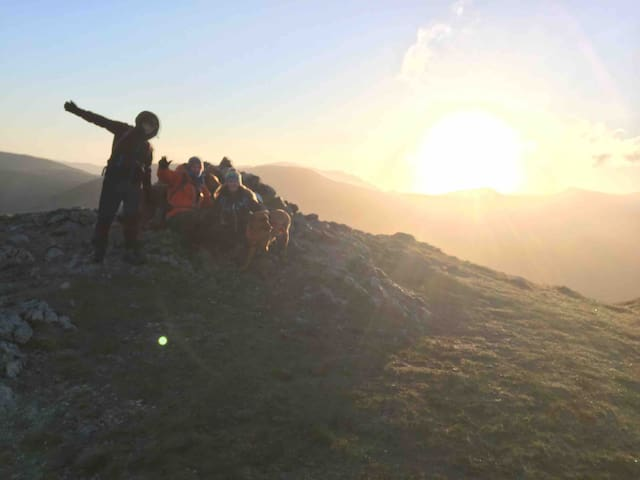 Sunrise on Crag fell - walk from cottage
