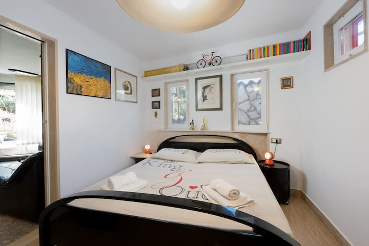 bedroom with air condition ,tv