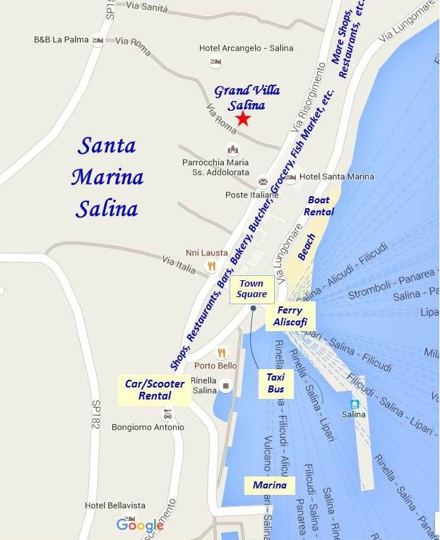 Grand Villa Salina Villas for Rent in Santa Marina Salina Sicilia