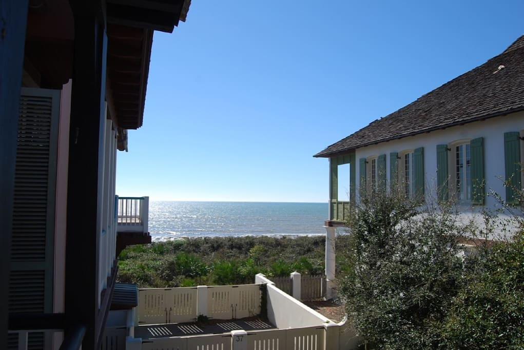 Fabulous views of the Gulf from the carriage house balcony.