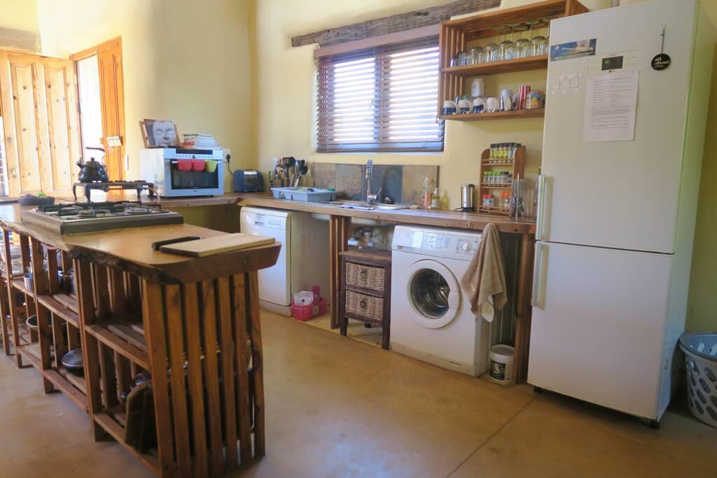 Open plan kitchen.