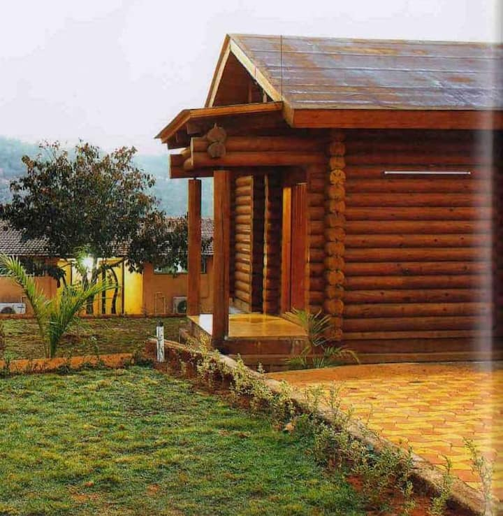 1 Room Wooden Log House Non AC With Pool Lonavala