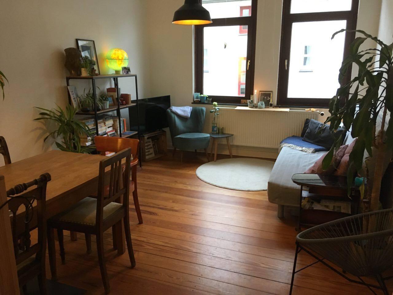 Das gemütliche Wohnzimmer zum Ausruhen und wohlfühlen. (Das Sofa dient als Schlafcouch für bis zu 2 Personen)