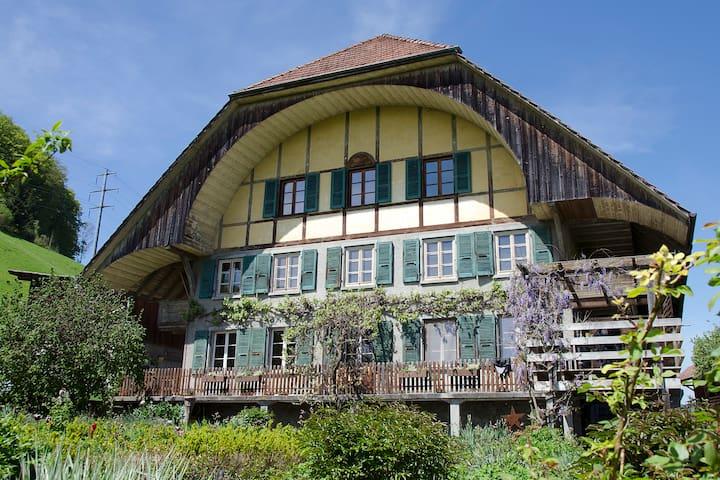 Ruhe und Erholung im Grünen; S-Bahn Bern-Worb