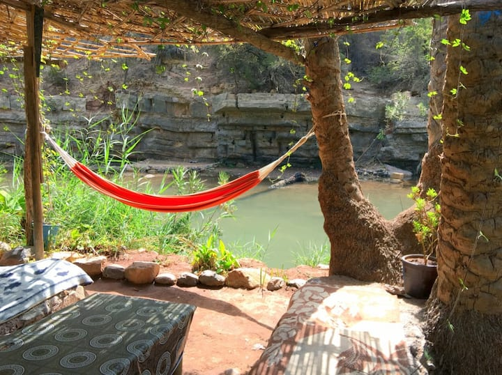 Relaxing on a hamac at paradise valley