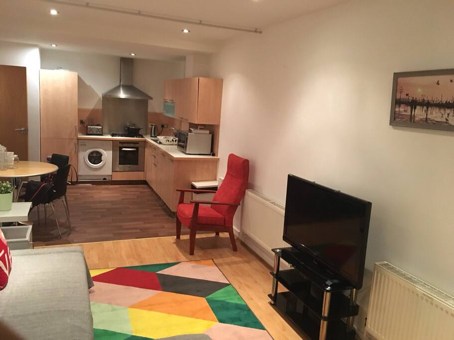 Open plan kitchen and fully equipped