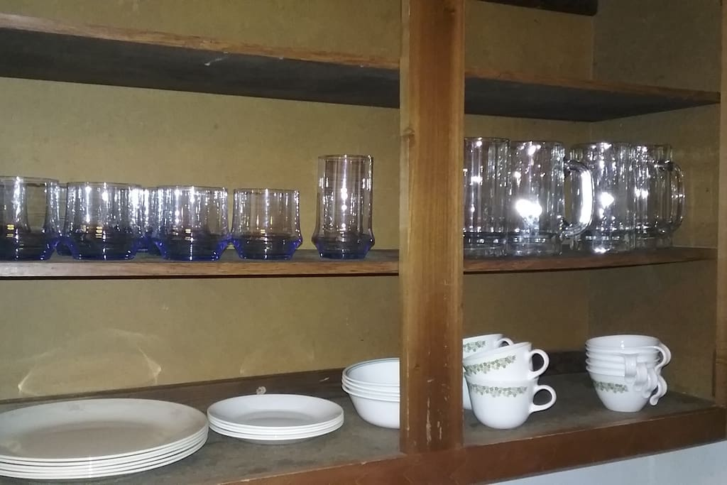 Kitchen glass ware.