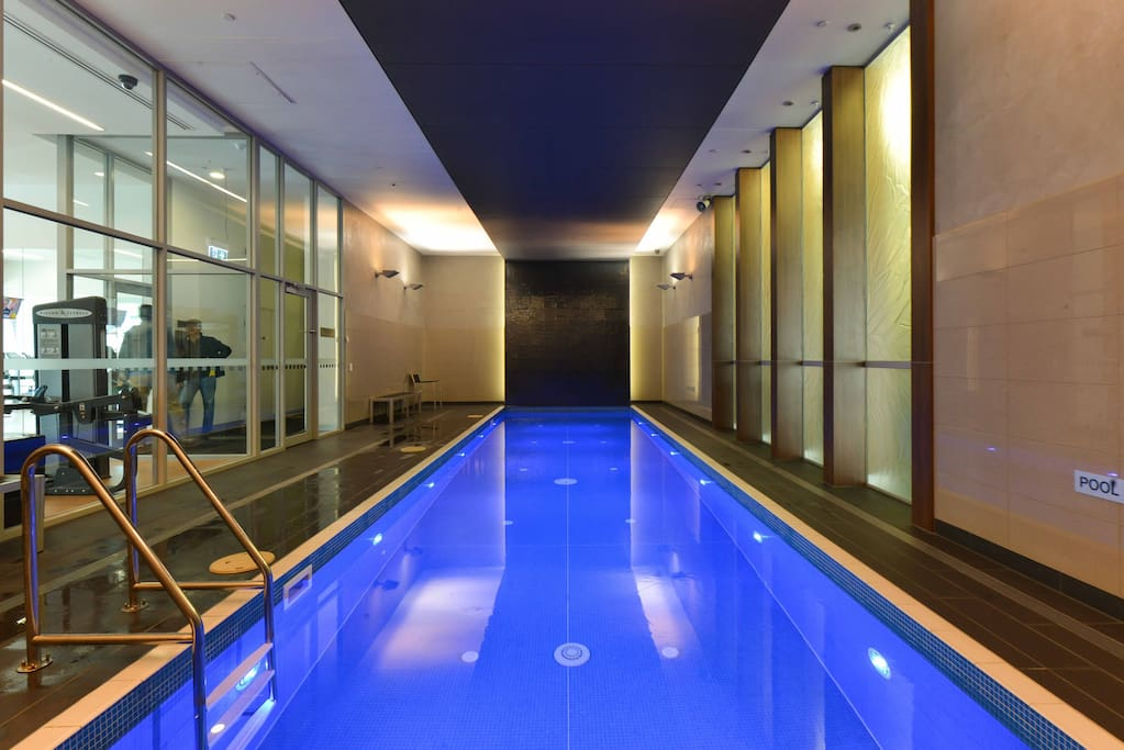 Our guests have access to the beautiful swimming pool on the ground floor