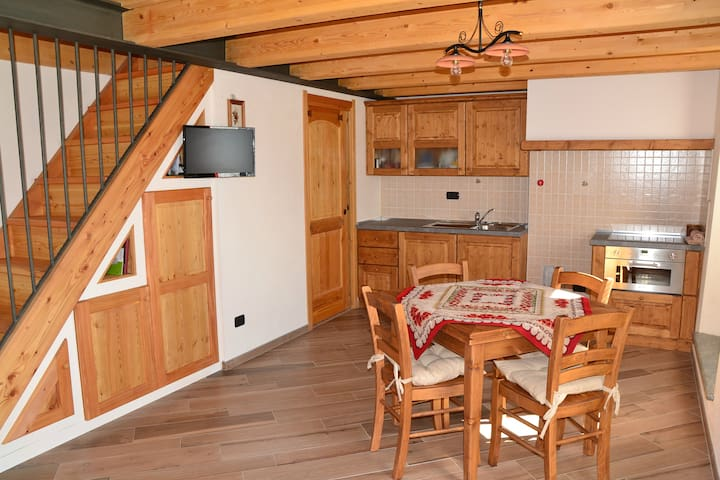 Attic apartment with mountain views - Aosta - Wohnung