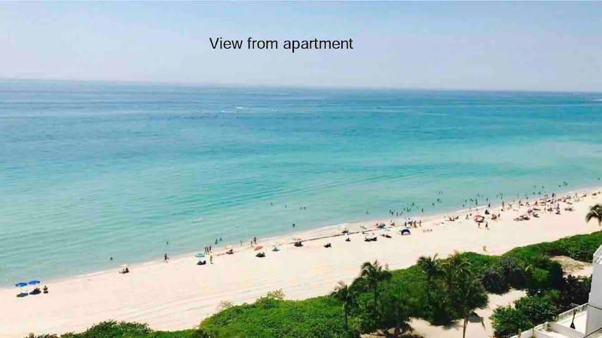 Beachfront w/OCEAN VIEW, FREE parking, Miami Beach