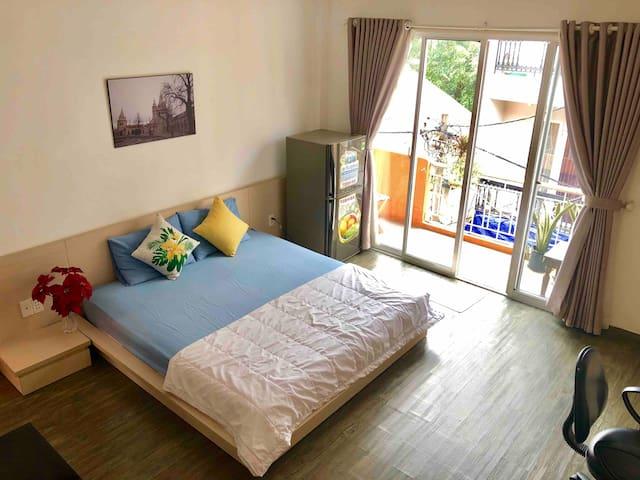 Balcony studio * Free laundry *10mins to Ben Thanh