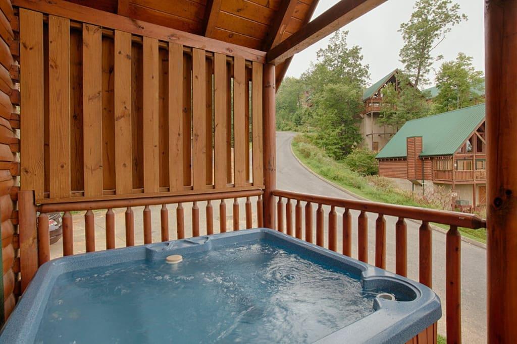 Ease your aches and pains in the hot tub!