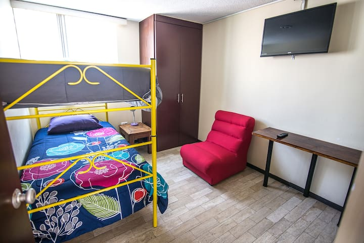 Perfect room for one or two, heart of Puebla!