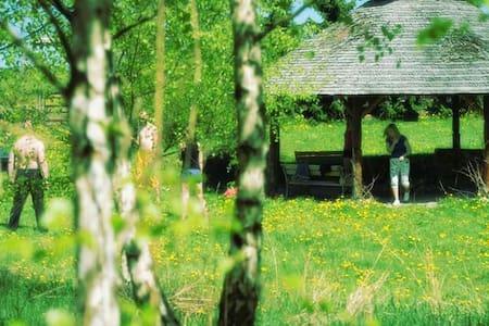 Pokoje na Kaszubach w drewniany dom - Nowa Wieś Przywidzka - Дом