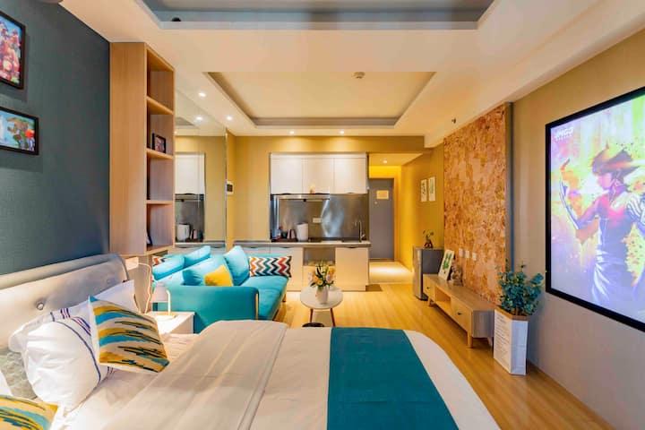 建发大阅城繁华商圈温馨舒适巨幕观影大床房