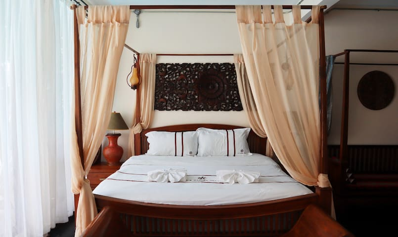 Lotus Room  One Double Bed with nice pool view