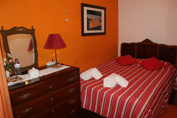Orange Room in a traditional house