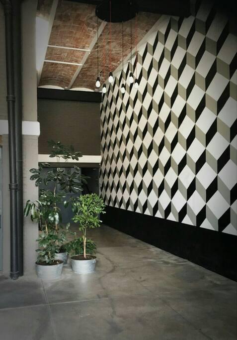 Lobby y entrada al loft.