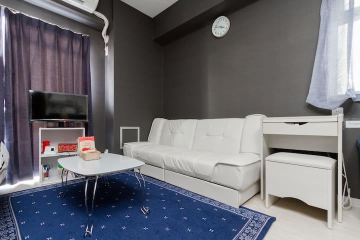 ★Nanba/USJ★Near JR Kyobashi Sta.Cozy flat : ) - Miyakojima-ku, Ōsaka-shi - Apartment