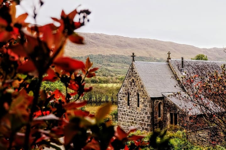 St Mary's quirky church, near Appin and Oban