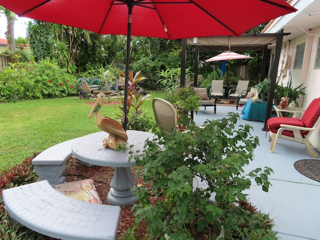 Each patio area gives you Charming new experience & change is good so ENJOY your stay