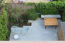 Open, green garden