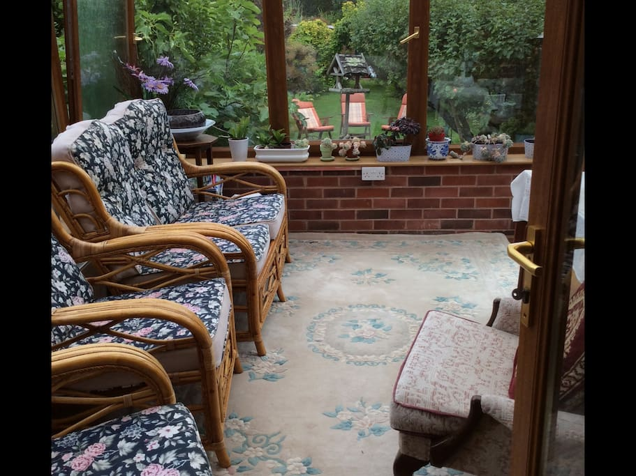 Welcome to sit and relax views of garden