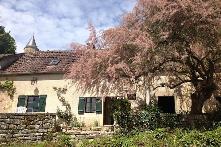 Attraente, autentica casa colonica con bel giardino soleggiato
