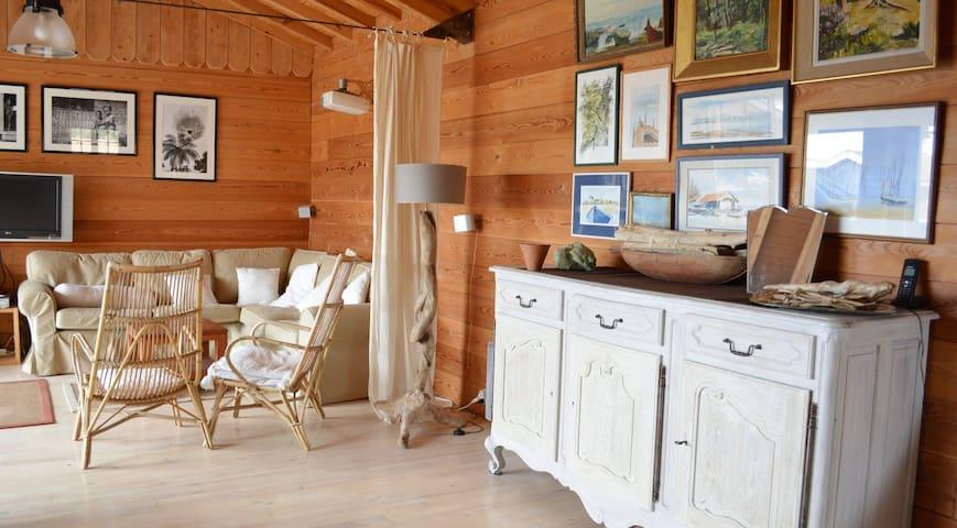 Villa bois à 100m du bassin-presqu'île Cap Ferret