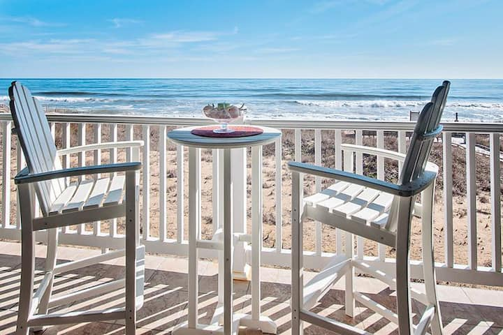 Oceanfront with Private Hot Tub on balcony at First Flight Retreat (FFR209 Beach Hideaway)