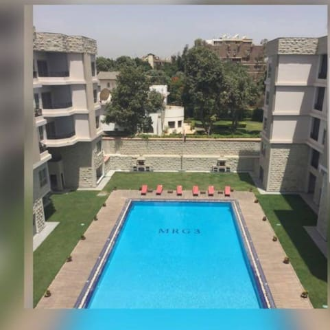 Maadi, st.18,Studio, poolview,Gym,Spa, in Compound
