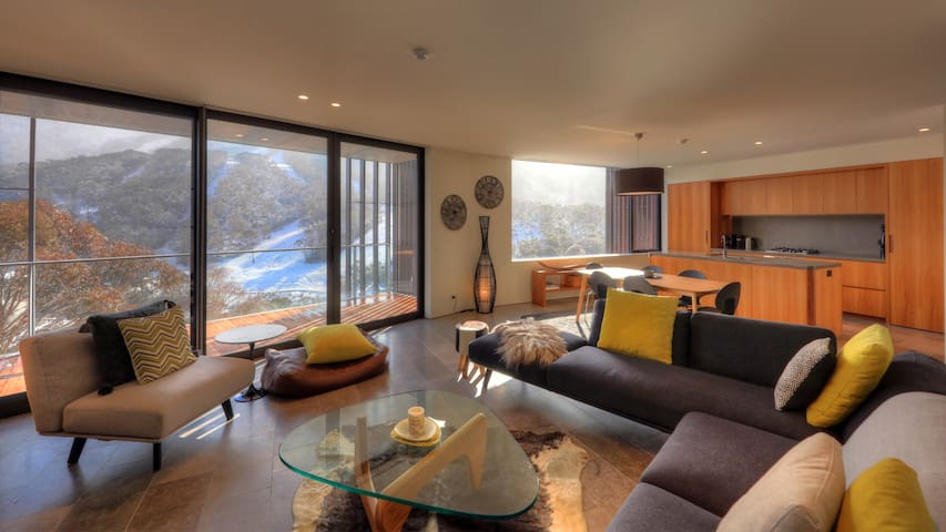 Stunning new apartment in Central Thredbo Village