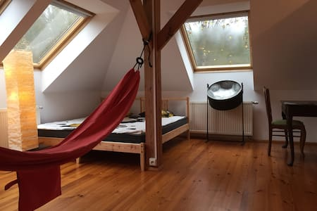 Room 1-3 persons, hammocks, chimney - beautiful - Wilcza Wólka - Haus