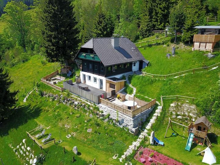 Glühwürmchen- und Romantikhütte, Natur u. Wellness