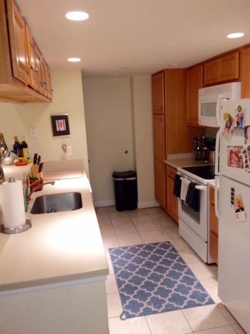 Kitchen - fully stocked with dishes, pots and pans, etc.